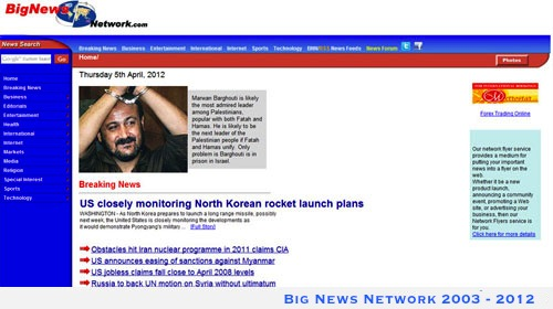 Big News Network website - 2003 through 2012