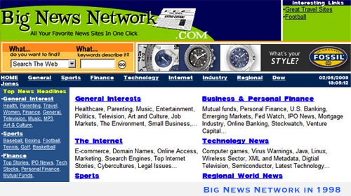 Big News Network Website - 1998